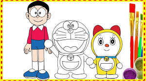 Doraemon gives him the doctrine association badge and discovers there's life on the other side of. Draw Doraemon Nobita And Dorami Family In Doremon Movie Coloring For K Cartoon Coloring Pages Doraemon Love Coloring Pages