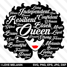 Choose from over a million free vectors, clipart graphics, vector art images, design templates, and illustrations created by artists worldwide! I Love Melanin African American Svg Files For Cricut Silhouette