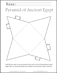 Diy Ancient Egyptian Pyramid Template To Cut Out Student Handouts