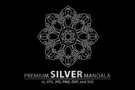Svg cut files for cameo, cricut, silhouette.craft it! Premium Silver Mandala Vector Pattern Graphic By Redsugardesign Creative Fabrica