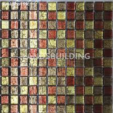 2018 Gold Foil Glass Mosaic Tiles,Resplendent Home Decor Tiles,Modern Style  Kitchen Backsplash Glass Mosaic Tiles,Elegant Wall Mosaic, ...