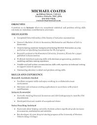 science resume actuarial science resume