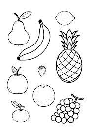 Kleurplaat Alle Fruit Samen Girls Uned Knutselen Eten En Drinken