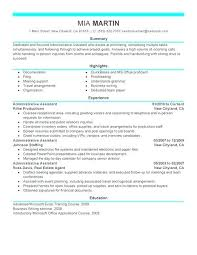 Resume Professional Summary Sample Administrative Assistant Resume