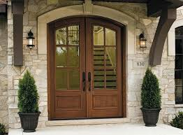 wooden front door oak with side windows glass panels entry s