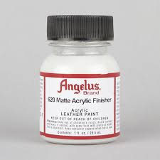 details about angelus acrylic leather paint matte finisher 1oz bottle factory finish sealer