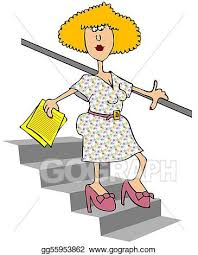 down stairs clipart. Modren Down Woman Walking Down Stairs For Clipart T