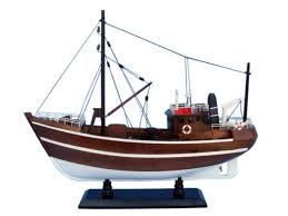 wooden 19 fishin impossible model wood assembled handcrafted fishing boat