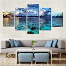 calm water canvas set wall art decor wall modular pictures for intended for living room wall