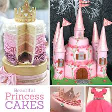 Cute Designs For Birthday Cakes Beautiful Princess Party Cake Ideas