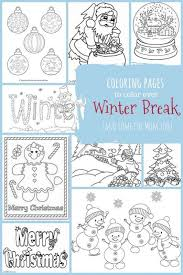 Dltk's holiday crafts for kids winter coloring pages. Christmas Winter Coloring Pages For Kids To Color