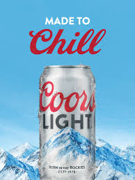 Coors Light Nutrition Facts 16 Oz Mountain Cold Refreshment Made To Chill Coors Light