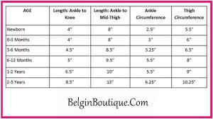 Sizing Chart Belgin Boutique Com