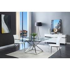 Elegant Modern Square Glass Dining Table Dining Tables And Chairs
