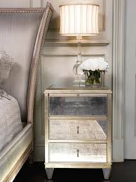 mirrored side table. Engaging Mirror Nightstand Table For Your Residence Inspiration: Furniture : Mirrored Side Night