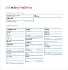 Best Budget Templates My Budget Worksheet Template Free Budget Spreadsheet