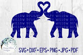 Use it for multiple projects design will be received in a zip file containing a svg, png, dxf, pdf and jpg file. Elephant Love Heart Animal Cut File Graphic By Wispywillowdesigns Creative Fabrica