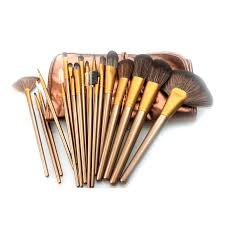 get ations womens best makeup brush sets wood handle portable brush kits sythetic hair makeup brushes