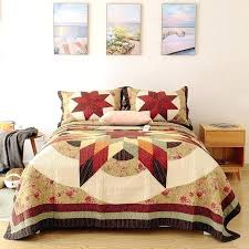 king patchwork quilt pattern vintage handmade set bedding cotton quilts quilted bedspread cover bed sheets pat
