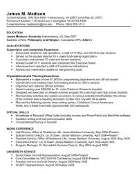 Resume Example For Students Resume And Cover Letter Resume And