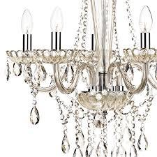 dar raphael traditional 5 light chandelier champagne glass