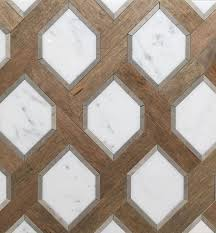 Wood And Marble Floor Designs Renaissance Tile And Baths White Marble And Nougat Wood
