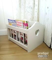 White Leather Magazine Holder bathroom magazine rack simpletaskclub 72