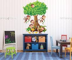 wall stickers for kids monkeys in the