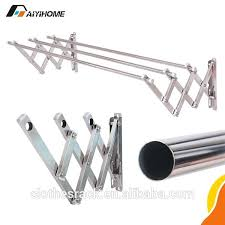 stainless steel clothes hangers wall mounted drying rack hanger ceiling retractable foldable h