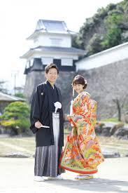 長崎の前撮りを大村城で和装撮影 前撮りブライダル撮影専門