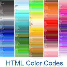 Red Orange Colour Chart Html Color Codes And Names