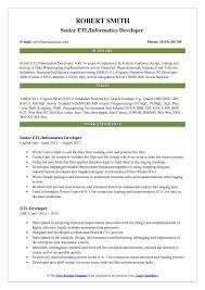 ETL Informatica Developer Resume Samples QwikResume Cool Teradata Etl Developer Resume