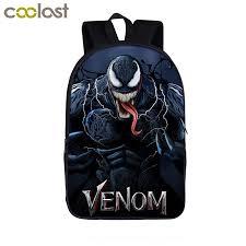 Superhero Venom <b>Backpack</b> for Teenagers <b>Children School Bag</b> ...