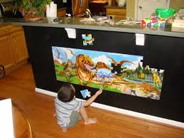 magnetic puzzles can be slid and centered on the wall when completed transforming them into on puzzle into wall art with how to make a magnetic puzzle feltmagnet