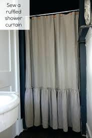 linen ruffle shower curtain sew a ruffled linen shower curtain pottery barn knockoff extra long linen linen ruffle shower curtain