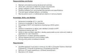 Senior Programmer Job Description Gorgeous Software Developer Duties 48 Software Developer Cover Letters Free