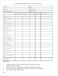 Supplier Scorecard Example It Evaluation Template Vendor Scorecard Excel Supplier Re