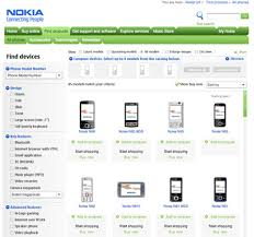 products page accessibility tested web sites nokia vs sony ericsson robert s