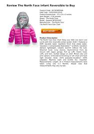 North Face Infant Size Chart Review The North Face Infant Reversible To Buy By Luis