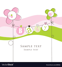 Announcement For Baby Girl Baby Girl Announcement Card Royalty Free Vector Image
