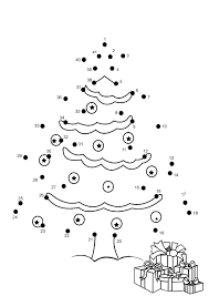 Dot To Dot Coloring Pages For Christmas - Christmas Coloring Pages