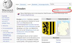 wikipedia article template article from the german wikipedia that uses a coordinate template in