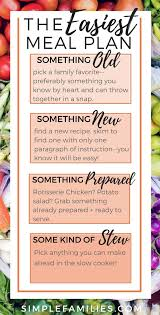 Weekly Meal Planning For One Simple Meal Planning For People Who Loathe Meal Planning