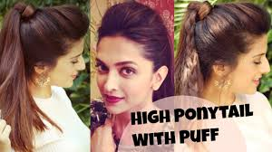 Simple Hairstyles For College 3 Easy Everyday High Ponytail Hairstyles With Puff For School