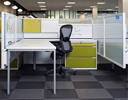 cool open office space cool office. Inscape System Workstations Featuring Custom Paint Finishes In The AOL Headquarters. #benching #workstation · Open OfficeOffice SpacesCreative Cool Office Space