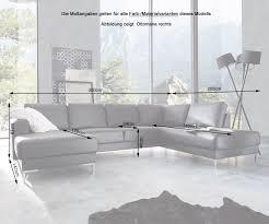 Delife Couch Silas Grau 300x200 Cm Ottomane Rechts Designer