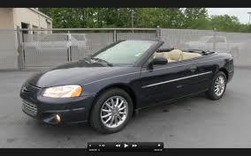 2002 Chrysler Sebring Limited Convertible Start Up, Exhaust, and ...