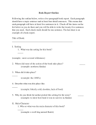 Security Report Template With Book Review Sample Outline For Book ...