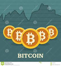 Bitcoin Exchange Rate Chart Stock Vector Illustration Of