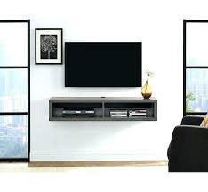 wall hanging tv cabinet wall mount stand shallow wall mounted stand for s up to wall